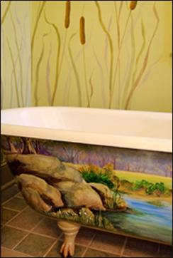 Painted tub